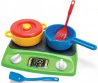 Indukční vařič s nádobím