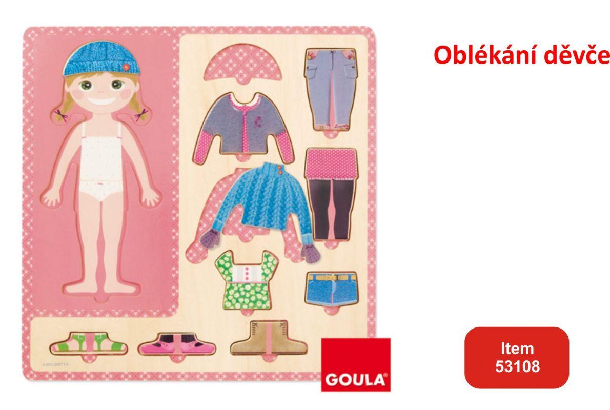 Oblékni děvče vkládanka Goula