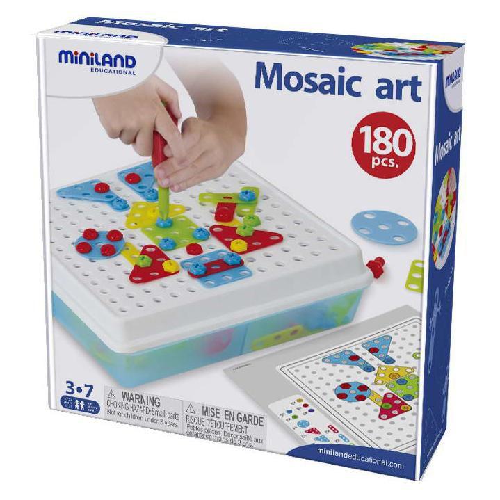 Šroubovací mozaika 3D 180ks Miniland