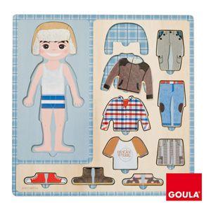 Oblékni chlapce vkládanka Goula