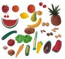 Ovoce,zelenina,ořechy 36 ks
