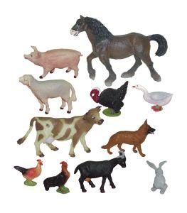 Domácí zvířata 10 ks (box) Miniland