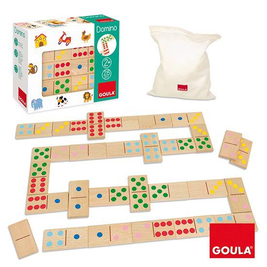 Domino Barevné puntíky Goula
