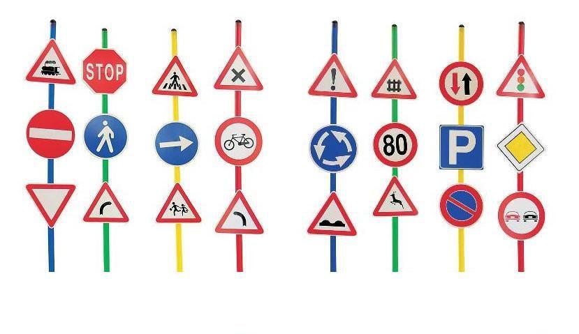 Dopravní značky sada 24ks Italveneta Didattica