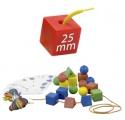 Navlékání tvary 100 ks Miniland