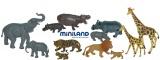 Divoká zvířata s mláďaty 12ks Miniland