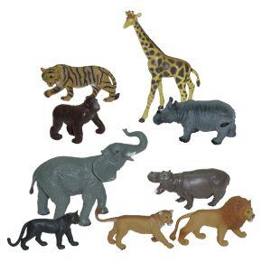 Divoká zvířata 9 ks box Miniland