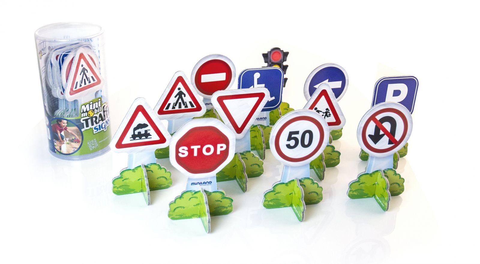 Dopravní značky 12ks Miniland