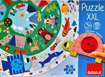 Kruhové puzzle XXL Goula