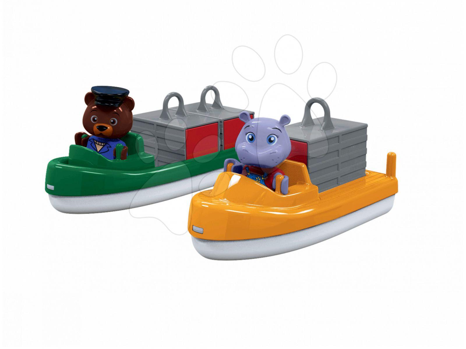 Sada loděk s kontejnery Aquaplay