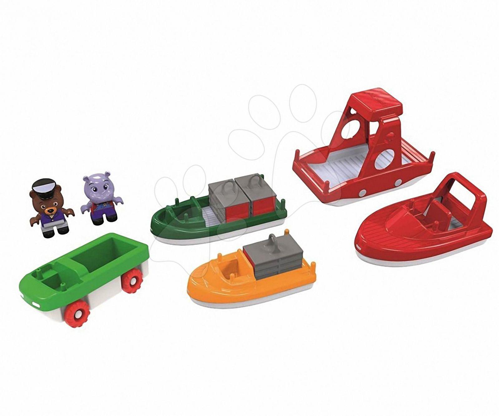 Sada lodí s autíčkem Aquaplay